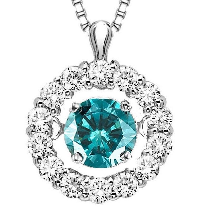 Rhythm of Love 14K Blue Diamond Rhythm Of Love Pendant 1/2 ctw