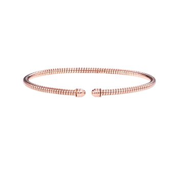 14K Gold 3mm Tubogas Bangle