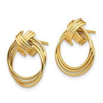 14K Circle Post Earrings