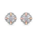 Essentials 10K White & Rose Gold 1/10 Ct Diamond Fashion Earrings