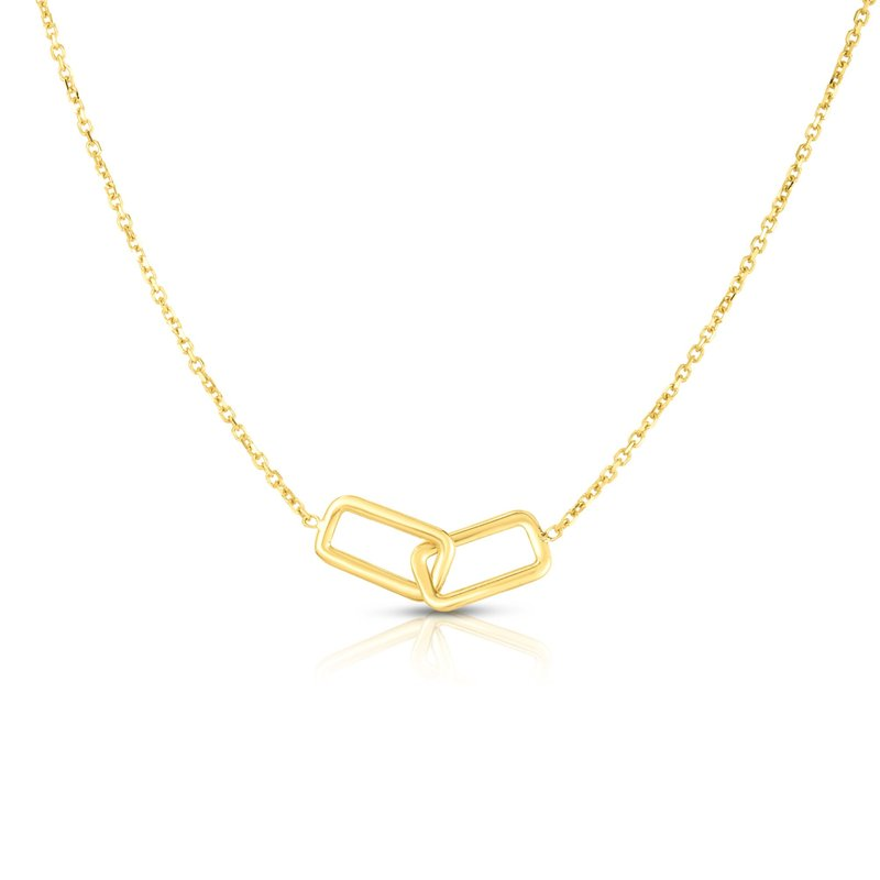 Royal Chain 14K Gold Interlocking Rectangles Necklace