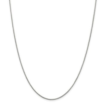 Sterling Silver 1.35mm 8 Sided Diamond-cut Box Chain