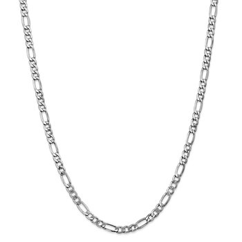 14k WG 5.75mm Semi-Solid Figaro Chain