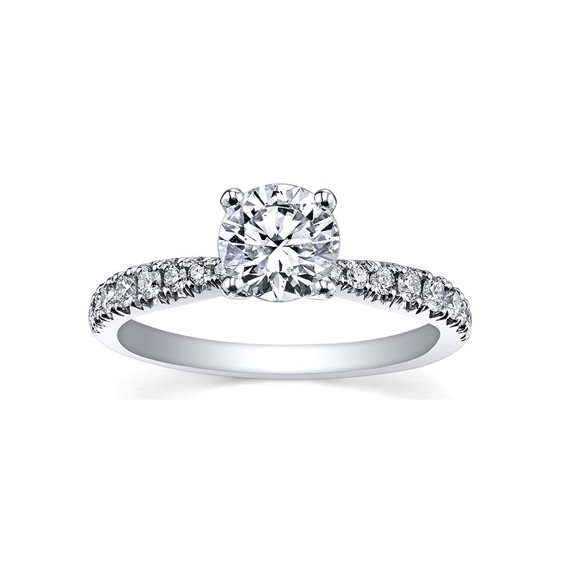Maple Leaf Diamonds Maple Leaf Diamond Circle of Love Ladies Engagement Ring