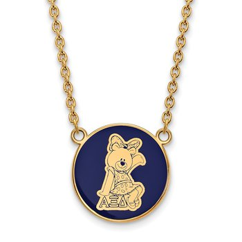 Gold-Plated Sterling Silver Alpha Xi Delta Greek Life Necklace