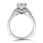 Valina Diamond Engagement Ring Mounting in 14K White Gold (.56 ct. tw.)