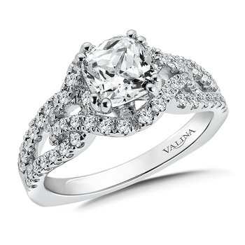 Diamond Engagement Ring Mounting in 14K White Gold (.56 ct. tw.)