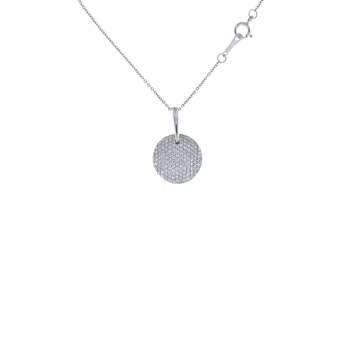 18Kt Gold Diamond Disc Pendant