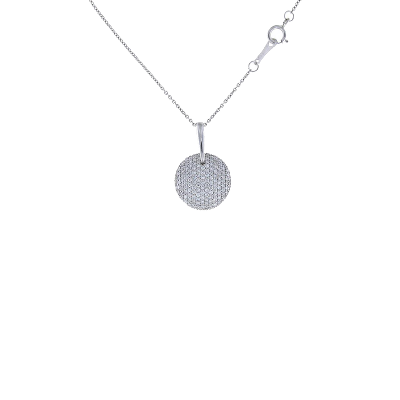 Roberto Coin 18Kt Gold Diamond Disc Pendant