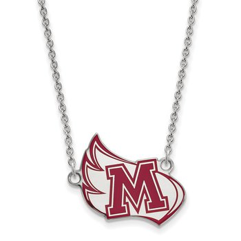 Sterling Silver Meredith College NCAA Necklace