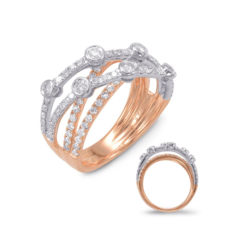 S. Kashi  & Sons White & Rose Gold Diamond Fashion Ring