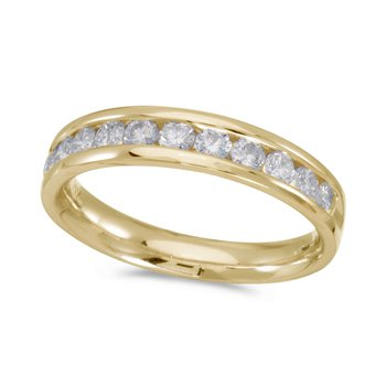 14K Yellow Gold Diamond Diamond Band Ring