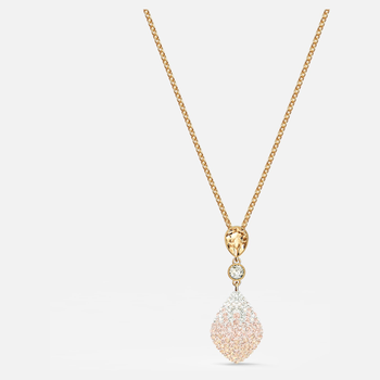 Fun Pendant, Gold tone, Gold-tone plated