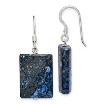 Sterling Silver Blue Sodalite Earrings