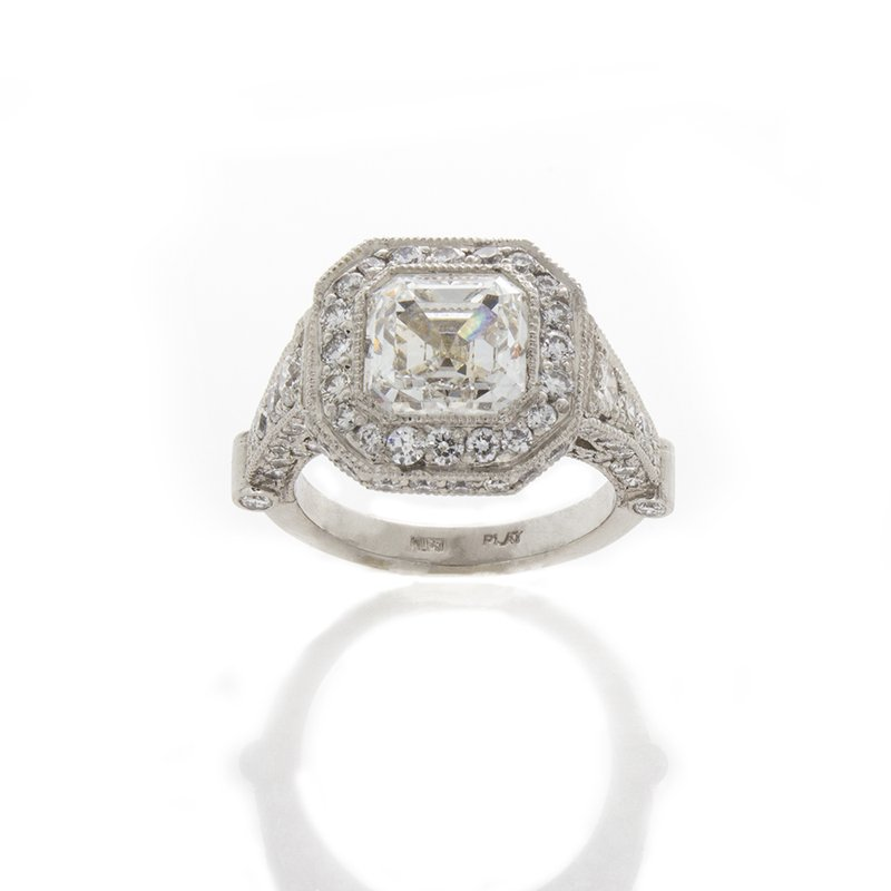 William Levine ASSCHER CUT DIAMOND 3.03 CT