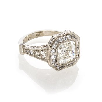 ASSCHER CUT DIAMOND 3.03 CT