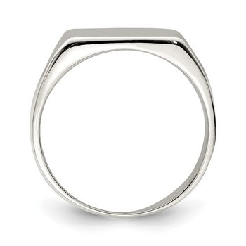 Sterling Silver 12x14mm Closed Back Signet Ring