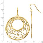 Quality Gold 14K Circle Earrings