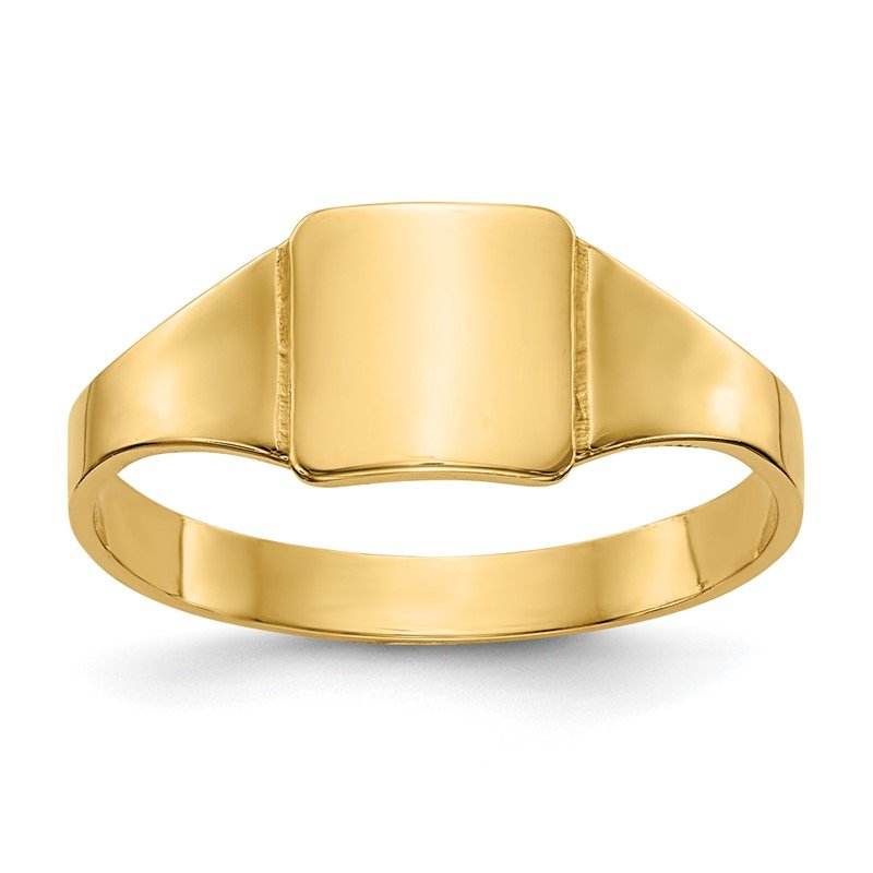 Quality Gold 14k Polished Square Signet Baby Ring