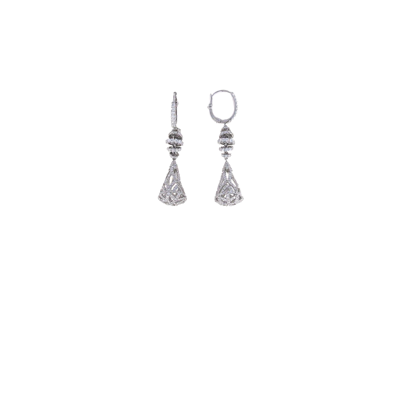 Roberto Coin 18Kt White Gold Diamond Earrings