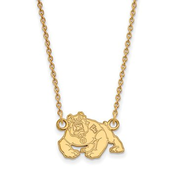 Gold California State University Fresno NCAA Necklace