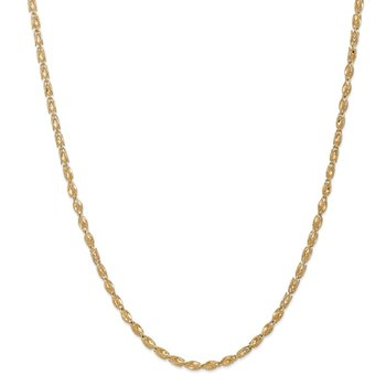14k 3.5mm Marquise Chain
