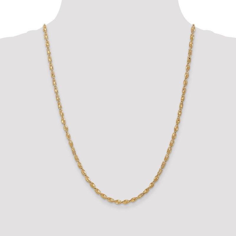Quality Gold 14k 3.5mm Marquise Chain