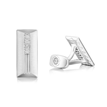 Diamond Engraved Cuff Links featuring Diamonds