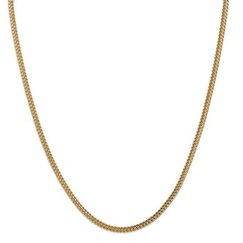 14k 3mm Semi-Solid Franco Chain