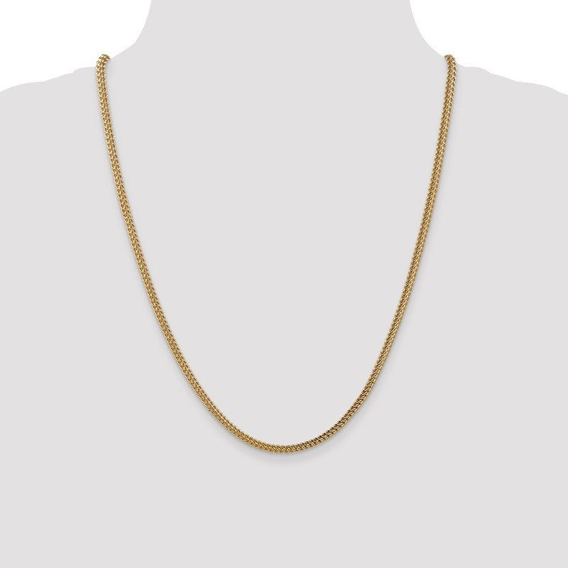 Quality Gold 14k 3mm Semi-Solid Franco Chain
