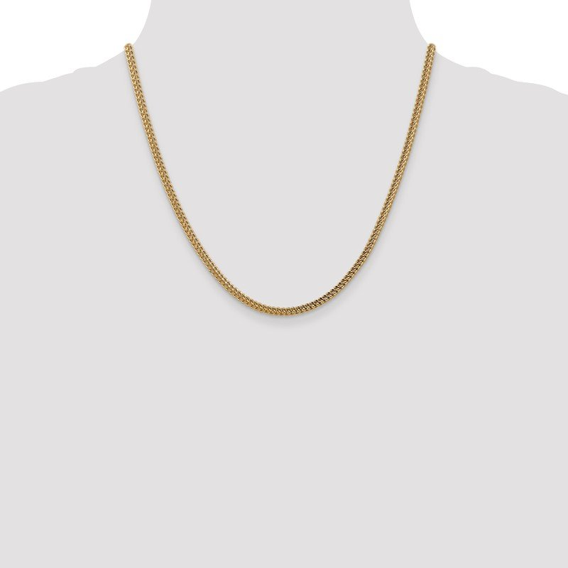 Lester Martin Online Collection 14k 3mm Semi-Solid Franco Chain