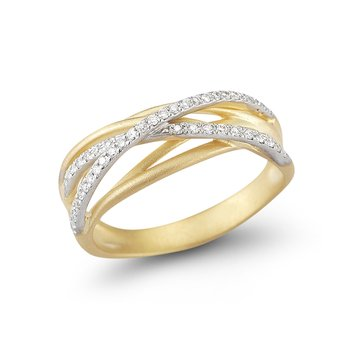 14K-Y GALLERY ARCH RING, 0.25CT