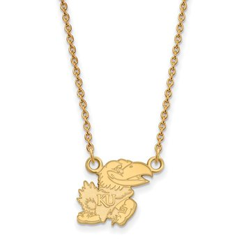 Gold-Plated Sterling Silver University of Kansas NCAA Necklace