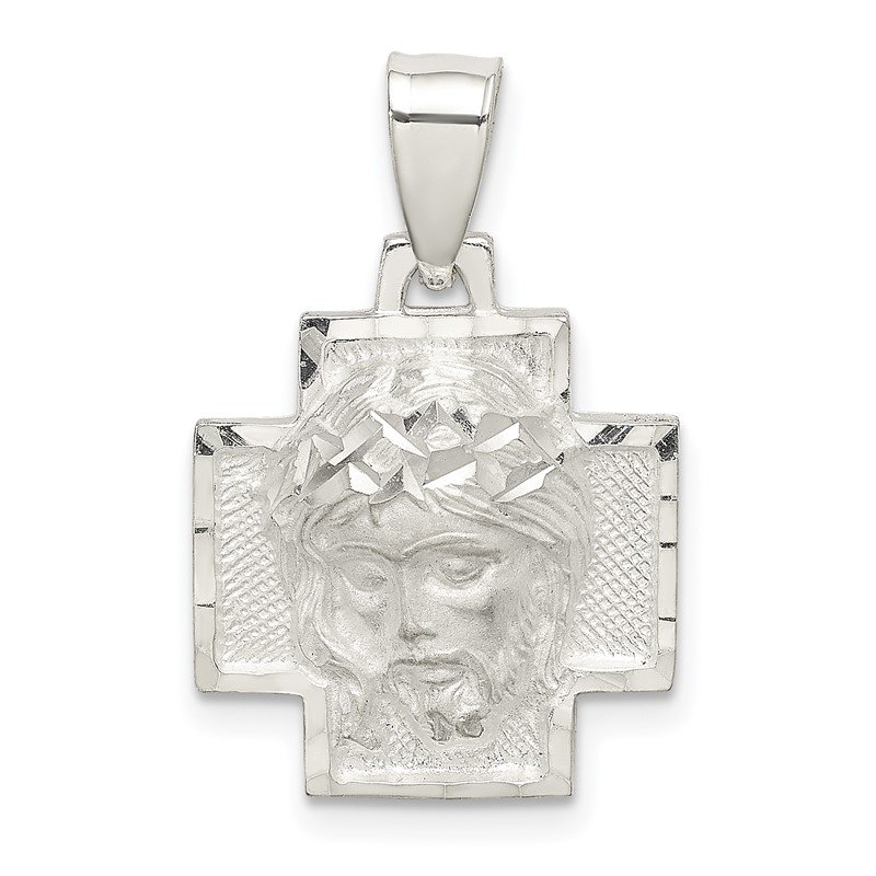 Quality Gold Sterling Silver D/C Satin & Polished Ecce Homo Medal Pendant