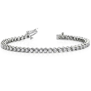 Three Prong Diamond Bracelet