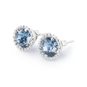 925‰ sterling silver and indian sapphire Swarovski® Elements crystals.