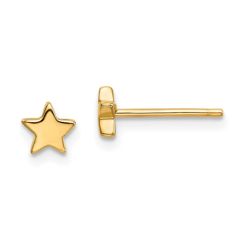 Quality Gold 14k Gold Polished Star Post Earrings