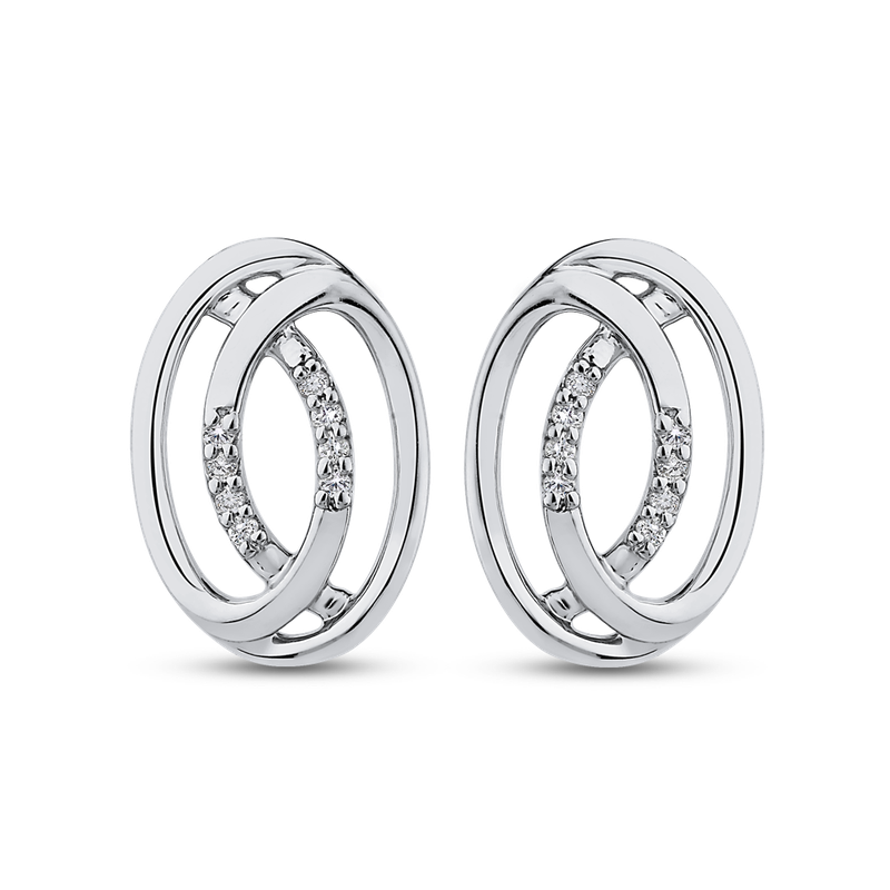 0.06 ct Round White Diamond Fashion Stud Earrings
