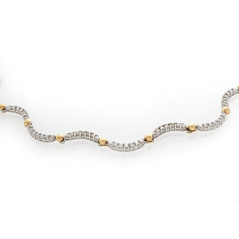 William Levine FULL CUT DIAMOND NECKLACE