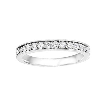 Round Classic Diamond Matching Band