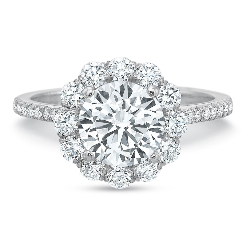 Precision Set 18K white gold semi mount for 1.50 ct center