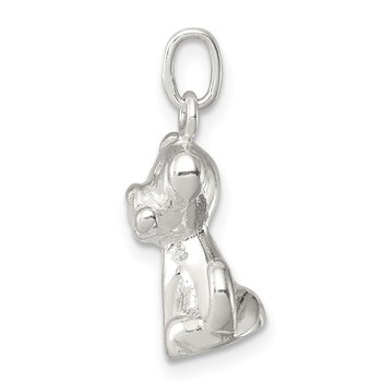 Sterling Silver Doggie w/Bone Charm