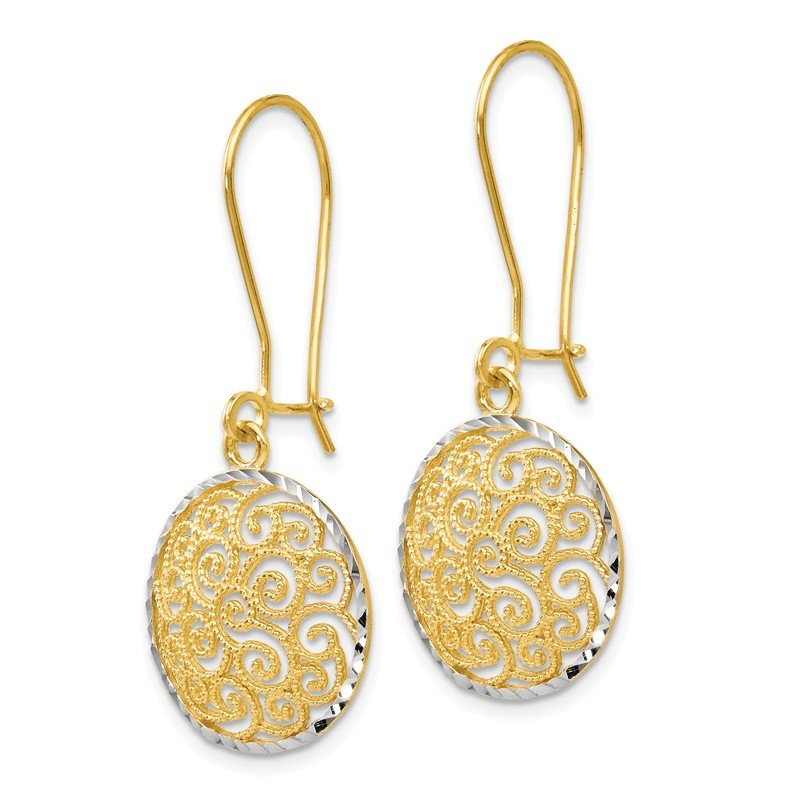 Leslie's Leslie's 14K Two-tone Filigree Dangle Earrings