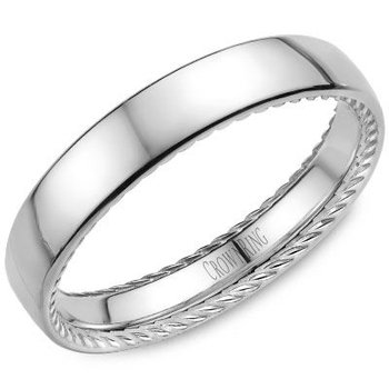 CrownRing Men's Wedding Band WB-012R4W