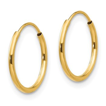 14k Madi K Endless Hoop Earrings