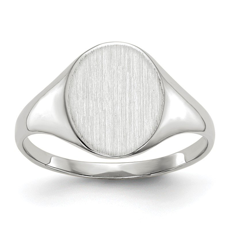 Quality Gold 14k White Gold 10.0x9.0mm Open Back Signet Ring