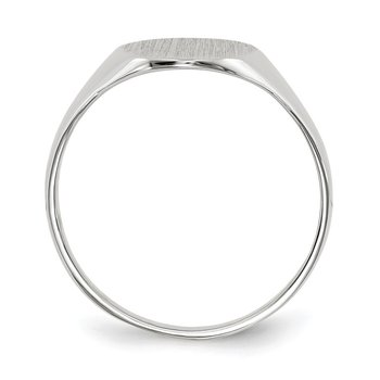 14k White Gold 10.0x9.0mm Open Back Signet Ring
