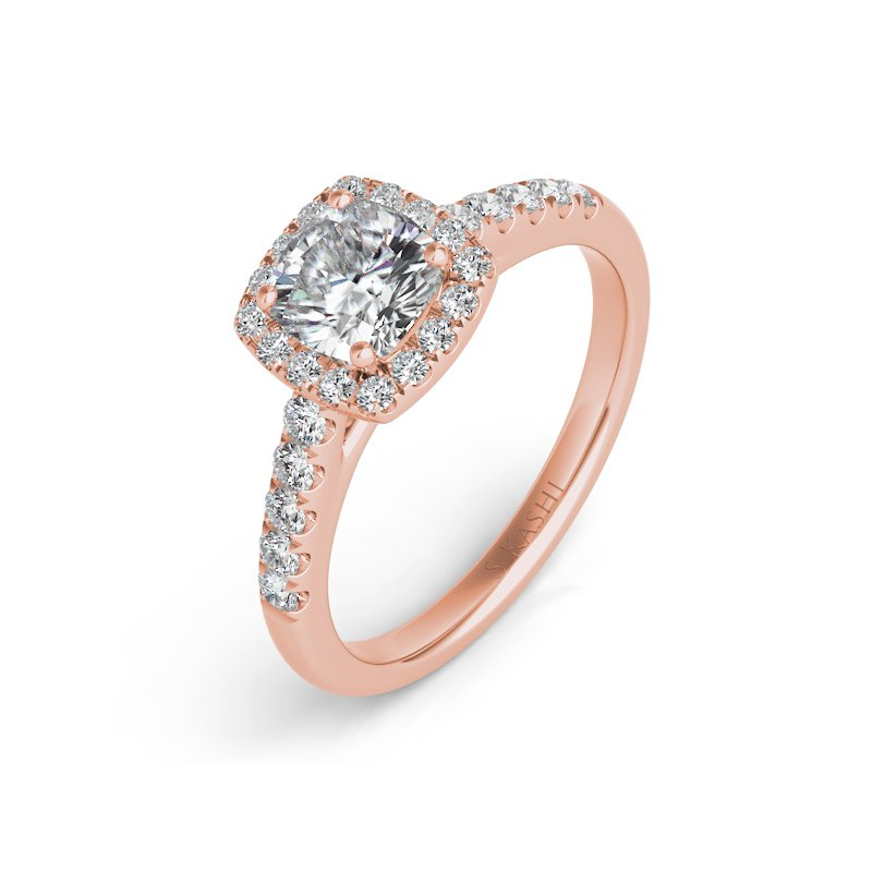 S. Kashi & Sons Bridal Rose Gold Halo Ring