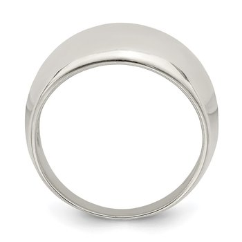 Sterling Silver Polished Cigar-band Ring