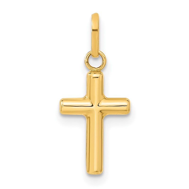 Quality Gold 14k Hollow Cross Pendant